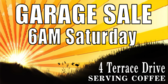 Garage Sale Early Riser Banner