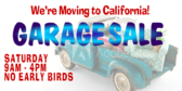 Garage Sale Moving Signage
