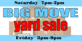 Yard Sale Moving Banner