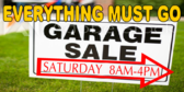 Garage Sale Must Go Banner