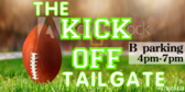 Tailgating Kickoff Sign