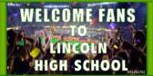 Cheerleading Welcome Fans Banner