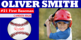 Cheer Personalized Baseball Player Photo