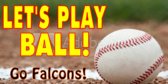 Cheer Let's Play Ball Baseball Template