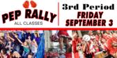 Homecoming Pep Rally Banner