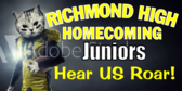 Banner to Welcome Juniors to Homecoming