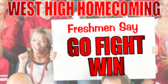 Banner to Welcome Freshmen to Homecoming