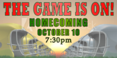 Homecoming Rivalry Banner