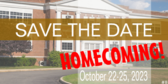 Homecoming Save The Date Banner