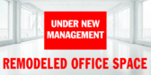 Under New Management Remodel Banner