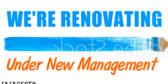 Under New Management Renovating Sign