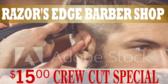Barber Crew Cut Banner