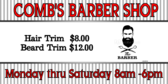 Barber Hair Trim Sign