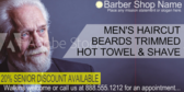 Barber Shop Senior Cut Sign