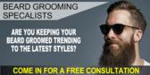Barber Shop Beard Grooming Sign