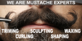 Barber Shop Mustache Grooming Sign