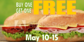 Fast Food Buy One Get One Banner
