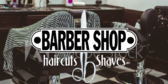 Classic Barber Shop Haircuts Shaves Sign