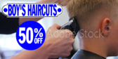 Boys Barber Shop Haircuts Discount Sign