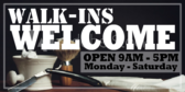Barber Shop Walk-ins Welcome Sign