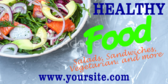 Fast Food Healthy Banner