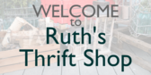 Thrift Store Welcome Sign