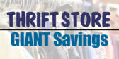 Thrift Store Giant Savings Sign