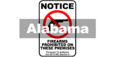 No Guns Alabama Act 2013-283 Section 6