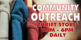Thrift Store Community Outreach Sign