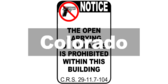 No Open Carry Guns Colorado C.R.S. 29-11.7-104