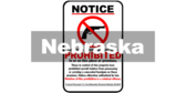 Nebraska Statute 69-2441 Concealed Handgun Prohibited Sign