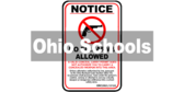 Ohio ORC 2923.1212A No Firearms Allowed In School Zone Sign