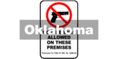 Oklahoma Title 21 § 1290.22 No Firearms Sign