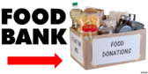 Thrift Shop Food Bank Sign