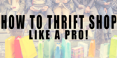 Thrift Shop Shop Like a Pro Sign