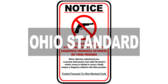 Ohio ORC 2923.1212A No Firearms Allowed Sign