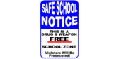 Safe School Weapon Free School Zone Sign