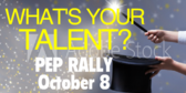 Pep Rally Talent Show Banner