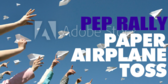 Pep Rally Paper Airplane Toss Banner