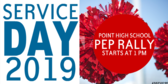 Pep Rally Service Day Banner