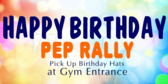 Pep Rally School Birthday Banner