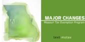 Tax Exempt Status Sign