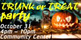 Trunk or Treat Jack O Lantern Party Sign