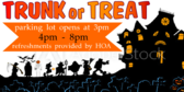 Trunk or Treat Parking Lot Sign