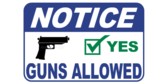Guns Allowed Notice Wide Format Sign