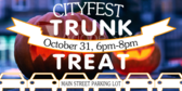 Trunk or Treat City Sponsored Event Sign
