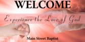 Welcome and Experience God Sign