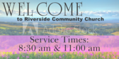 Welcome Church Listing Time of Service Sign
