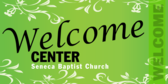 Welcome Center Church Sign