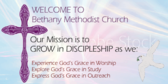 Mission Statement Welcome Church SIgn